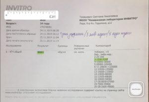 ХГЧ анализ крови 552 на третьей недели