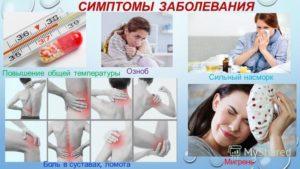 Озноб, боль в суставах, температура