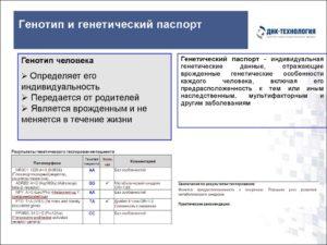 Генетический паспорт на наследственную тромбофилию
