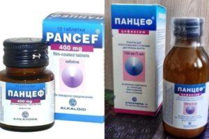 Панцеф - таблетки или суспензия для ребенка 4 года