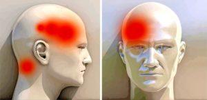 Головная боль, давящая боль на уши