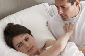 Отсутствие чувствительности при половом акте