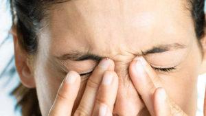 Головные боли, моргание глаз