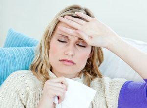 Головная боль, температура, сильное потоотделение