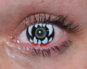 Глаза как у вампира после снятия линз